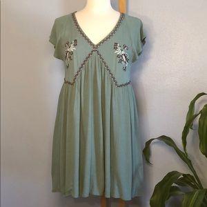 Francesca's Blue Rain Needlepoint Dress